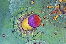 """My Art -  Circles of my mind / """"Like the circles that you find in the windmills of your mind ...   Acrylic paintings on canvas"""