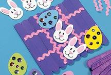 Déco/Ecole : Pâques / Inspirations pour des travaux manuels avec les enfants, pour faire des activités artistiques sur le thème de Pâques + des fiches (activités pédagogiques) autour de ce thème.