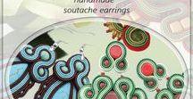 Soutache earrings / Soutache earrings, colorful earrings, soutache jewelry, handmade jewelry, handmade earrings. Ręcznie wykonane kolczyki, kolczyki sutasz, kolorowe niebanalne kolczyki.
