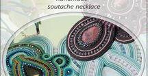 Soutache necklace / Soutache jewelry, handmade jewelry, soutache necklace, handmade necklace,  Ręcznie wykonana biżuteria, naszyjniki i wisiorki sutasz, kolorowa biżuteria
