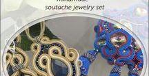 soutache set / soutache jewelry, soutache set, handmade jewelry, soutache necklace, earrings, bracelet. Ręcznie wykonana biżuteria sutasz, komplety biżuterii, kolczyki i naszyjniki sutasz