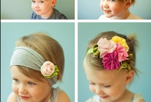 Flowers  and Headbands / Flowers and headbands - to match my dresses, perhaps?  Looks like I'll be hauling out the glue gun!