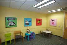 Eye Care Providers / If your an eye care provider looking for something fun to brighten up your office and make it more inviting to your children patients. We create artwork, t-shirts and stickers!