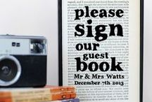 A Literary Wedding / A board for book lovers planning their own happy ending.
