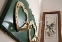 Attaccapanni / Attaccapanni realizzati con ferri di cavallo usati a forma di cuore