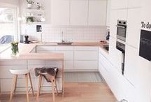 Kitchen / Inspiration for our first house: kitchen design. Probably a lot of stuff not achievable or not affordable, but still it's good to know what we're looking for. :)