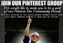 Official New England Patriots Fan Community Board / We are looking for content creators for our Patriots Fan community board.  If you love the Patriots and would like to be a content creator please send us a message with your pinterest email address!