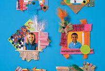 CON SU FOTOGRAFIA / Manualidades, producciones plásticas, ideas para tapas con las fotografías de los niños