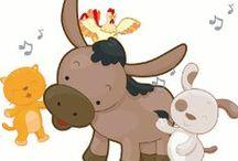 CANÇONER d'animals / Canciones para Infantil en la escuela. Son canciones de animales, que pueden cantarse acompañada de una caja sorpresa con los diferentes animales o de marionetas