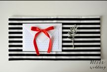 Czarno-biały ślub z akcentem / kolory: czarny, biały, czerwony motyw: kropki, wstążka, paski wykonanie i zdjęcia: minwedding