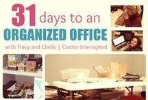 Organizing: #31Days to an #OrganizedOffice / Tracy and Chelle take 31 days in January to organize Chelle's office. Can it be done? Join in and organize a space in your home by following the daily assignments!