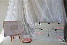Różowo, szaro i w kropki / wykonanie i zdjęcia: minwedding