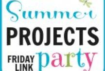Summer Projects Series / Attacking home projects one at a time! Get ideas that you can use to check off some to-do projects on your list.