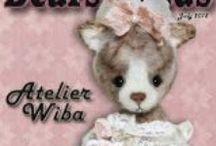 "My lastest ""Wiba-animals"" / http://atelier-wiba-baer.blogspot.de/ +  http://www.bearpile.com/artist/2355"