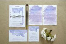 """""""Akwarelowe fioletowe"""" - zaproszenia / kolekcja 2015 by minwedding ~~~ motyw przewodni: romantyczny ślub, boho, lekkość, akwarele ~~~ kolory przewodnie: odcienie fioletu ~~~ projekt, wykonanie, zdjęcia: minwedding more on: http://minwedding.pl/blog/?p=3603 ~~~ zaproszenia zaproszenia ślubne wedding invitations"""