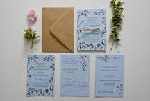 """""""Botaniczne"""" – zaproszenia / kolekcja 2015 by minwedding ~~~ motyw przewodni: rośliny, boho, natura ~~~ kolory przewodnie: niebieski, czarny, biały ~~~ projekt, wykonanie, zdjęcia: minwedding more on: http://minwedding.pl/blog/?p=3923 ~~~ zaproszenia zaproszenia ślubne wedding invitations"""