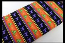Fall Seasonal and Halloween Fabrics / Unique & beautiful Fall and Halloween fabrics for all your quilting and sewing projects!
