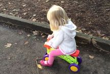 Toddlebike Trials 2014 / C is taking part in the 2014 Toddlebike Trials aged 31 months
