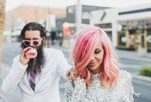 Pink cool wedding