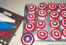 Birthday Party / Avengers Super Hero Theme / Avengers themed summer party - this is what we did for my son's half birthday.