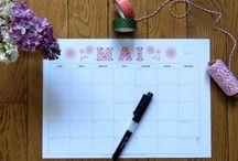 Organisation // Organization / Plannings astucieux et rangements pratiques