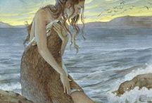 Selkie Mythology / What are Selkies? Mythical creatures from Scottish folklore, selkie seals, art.