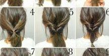 Coiffure facile // Hairs / Des idées pour : se coiffer facilement, reproduire de belles coiffures, trouver des astuces