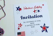 USA Party ! / Valentine's birthday! idées et réalisations pour une fête avec le thème USA et les couleurs : bleu, rouge et blanc!