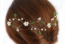 Hair Accessories by Selkie Crafts / Stunning hair accessories. Bridal tiaras, hair vines, hair combs, pins & clips, designed & hand crafted by Selkie Crafts. Perfect ideas & inspiration for your special wedding day. ~ Shop now: www.selkiecrafts.com