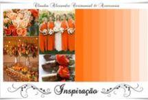 Casamento | Decoração em Laranja