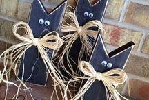ZVÍŘATA  z papíru, textilu, keramiky ( kočky, žirafy...) / práce s dětmi, dekorace