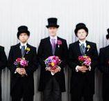 Casamento | O Noivo & Os Padrinhos / Inspirações para fotos com o noivo e seus padrinhos.