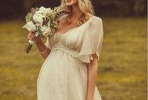Casamento | Vestido de Noiva Grávida / Inspirações de vestidos para noivas grávidas.