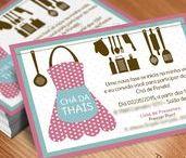 Chás de Noiva | Convite / Inspirações de convites para chá de cozinha, chá de panela, chá bar e chá de lingerie.