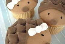 Animals cup cakes