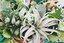 Event Flowers: Greens & Browns