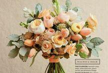 Event Flowers: peach & coral & orange