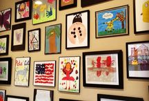 Playroom Inspiration / The best way to display children's artwork. Playroom ideas and decor inspiration.