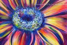 kresba květiny / kresba malba