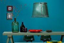 Wohnideen in Türkis • Living in Turquoise / Türkis ist schön, freundlich und beruhigt. Meine Lieblingsfarbe (außer Pink und Grün und Blau und Gelb).