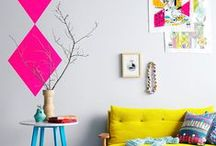 Buntes Wohnen • Living colourful / Es muss nicht immer Ton-in-Ton sein :-) Buntes Wohnen ist toll!