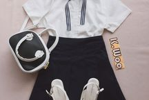 Korean close sets ( ulzzang outfits ) / We selling Korean fashion items ! View page or get buying or contact me for Oder ( 45$ / per set )