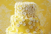 Yellow & Gold Cakes / Cakes with yellow and gold