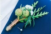 Boutonniere by LOVE&GRACE / Customised table boutonnieres for weddings done by our team.  All of the designs are original & hand made by Love&Grace to the bride's specific needs & colour scheme for her big day! CONTACT US ON FACEBOOK https://www.facebook.com/loveandgraceeventdecor/