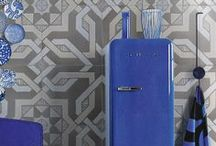 TRENDS: Patterns / Patterned compositions are showing up in ceramic and porcelain tile design.