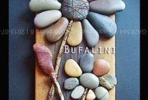 Manualidades - Piedras / Manualidades y cuadros hechos con piedras