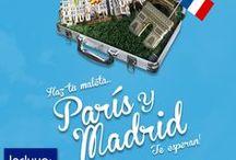 París y Madrid / Haz tu maleta... París y Madrid te esperan!