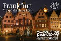 Frankfurt y las Capitales Imperiales. / Conoce las ciudades Imperiales: Frankfurt, Budapest, Praga y Viena!!! Más información http://goo.gl/U1To4i