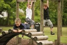 Outdoor play spaces / Inspiring outdoor play spaces for children to explore and discover