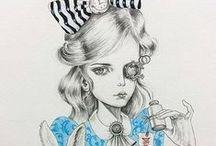 Alicias / Versiones de Alicia en el país de las maravillas, detrás del espejo y otras... ilustraciones, películas, muñecas...